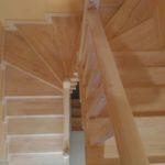 лестница 180 градусов с забежными ступенями
